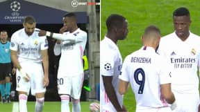 Footage Of Karim Benzema Talking Face-To-Face With Vinicius Jr Emerges After Tunnel Rant