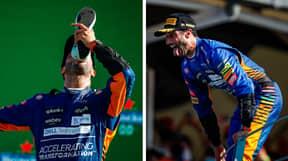 Daniel Ricciardo Celebrates With A Shoey After Winning Italian Grand Prix