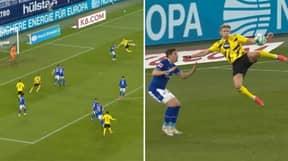 Erling Haaland Has Just Scored The Most Ridiculous 'Scissor Kick' Against Schalke