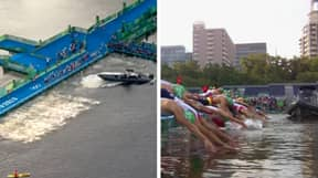 Wild Start To Olympic Triathlon As Boat Blocks Athletes From Entering The Water