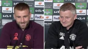 Luke Shaw Says Ole Gunnar Solskjaer Is Reason Behind His Form In Heartwarming Press Conference Moment