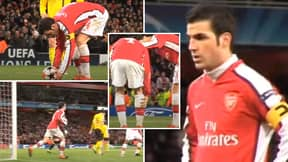 11 Years Ago Today, Cesc Fabregas Scored Arsenal Penalty Against Barcelona With A Broken Leg