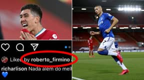 Liverpool Fans' Fury As Roberto Firmino Likes Instagram Post Of Richarlison's Goal