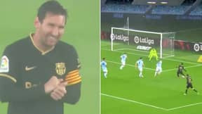 Lionel Messi Did It 'On A Cold, Wet And Windy Night' Against Celta Vigo