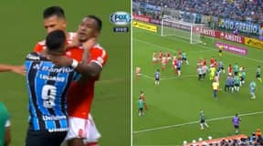 Gremio And Internacional Spark All-Out Brawl As EIGHT Players Are Sent Off In Copa Libertadores Clash