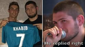 Khabib Nurmagomedov Reveals Hilarious First Exchange With Cristiano Ronaldo On Instagram