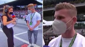 A Reporter Introduces Timo Werner As A Goalkeeper At Austrian Grand Prix And It's Really Awkward