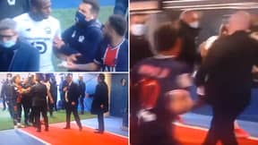 Shocking Footage Emerges Of Neymar And Tiago Djalo Clashing In Tunnel After Double Sending Off
