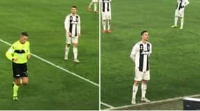 What Cristiano Ronaldo Did When The Referee Went To VAR In Juventus-Roma