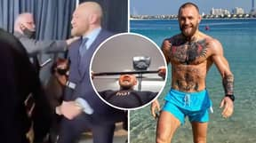 Conor McGregor Trained A Day After Leaving Arena On Crutches Following UFC 257 Defeat To Dustin Poirier
