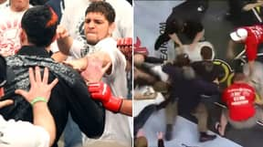 When Nick And Nate Diaz Caused The Biggest And Most Shocking Brawl In MMA History