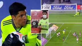 River Plate Midfielder Enzo Perez Forced To Play 90 Minutes In Goal After COVID Outbreak, He Wins MOTM