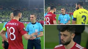 Bruno Fernandes Panned For Letting Villarreal Take First Penalty In Europa League Final Shoot-Out