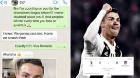 The WhatsApp Messages Cristiano Ronaldo Sent Patrice Evra, Just Days Before Scoring Hat-Trick vs Atletico Madrid