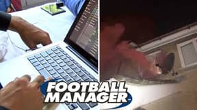 Gamer Spotted Setting Off Flares After Football Manager League Win