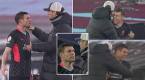 James Milner And Jurgen Klopp's Incredible Touchline Exchange After Initially Kicking Off Over Substitution