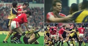 Manchester United Vs Arsenal Game So Violent Both Were Docked Points