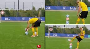 Fans Can't Decide If Erling Haaland's 'Impossible' Training Drill Is Real Or Fake