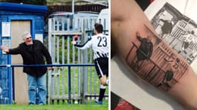 Man Pays Tribute To His Grandad With The Most Incredible Tattoo After Scoring In Cup Final