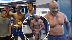 Mike Tyson Shows Off Shredded Physique During Training Session With UFC Legend Vitor Belfort