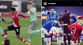 Liverpool Fans Call Karma After Lucas Digne's Red Card Against Southampton