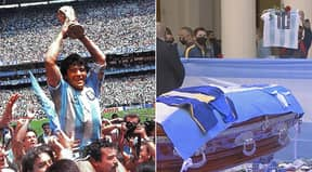 Thousands Of Football Fans Pay Final Respects To Diego Maradona In Buenos Aires