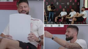"""AC Milan Striker Olivier Giroud In Disbelief At Pace Stat On FIFA 22 Card, Says It's """"Not Possible"""""""