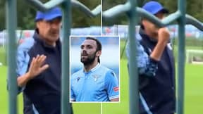 Maurizio Sarri Stops Lazio Training To Confront Supporters Abusing One Of His Players In Remarkable Footage