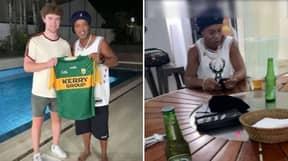 Irish Man Befriends Ronaldinho Over Instagram And Visits His Home In Brazil