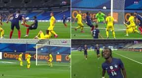 17-Year-Old Eduardo Camavinga Scores Insane Overhead Kick In First Start For France