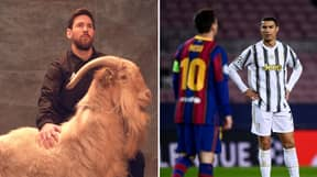 Lionel Messi Is Named Football's GOAT During Coverage Of NFL Super Bowl
