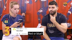 Manchester City Fans Fume After Sergio Aguero Says He Prefers 'Red' Over 'Blue'