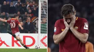 Francesco Totti Wanted To Miss A Penalty In His Final Game For Roma