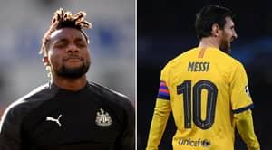 Allan Saint-Maximin's Hilarious Response To Lionel Messi Taking His Shirt At Newcastle