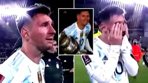 Lionel Messi Breaks Down In Tears As He Celebrates Copa America Title In Front Of Argentinean People