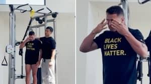 Javier 'Chicharito' Hernandez Breaks Down In Tears During Training Session