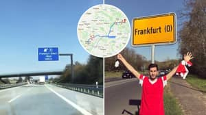Some Benfica Fans Went To The Wrong City Of Frankfurt For Europa League Away Game