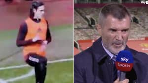 Footage Of Edinson Cavani Warming Up Emerges After Roy Keane Ripped Into Manchester United Striker