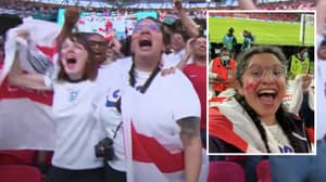 Woman Sacked For Pulling A Sickie And Being Caught On TV At Wembley For England Vs Denmark