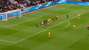 Wolves' Ruben Neves Scores Stunning Free-Kick Against Arsenal