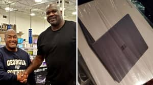 Man Says Shaquille O'Neal Bought Him A Laptop After He Passed On Condolences For Kobe Bryant