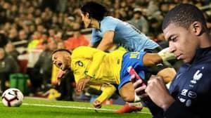 Kylian Mbappe Sent Neymar A 'Whatsapp With The Video Of Edinson Cavani's Foul'
