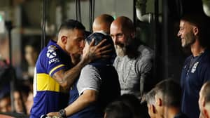 Carlos Tevez Kissed Diego Maradona Before Scoring Goal That Won Boca Juniors The League