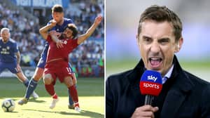 Fans Are Questioning Gary Neville's Comments On Two Penalty Decisions Involving Liverpool