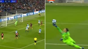 Manchester City's Ederson Produces Unbelievable Fingertip Save In The Champions League