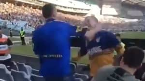 Punches Thrown As Fight Breaks Out Between Two Parramatta Eels Fans