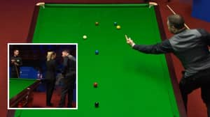 The Incredible Moment Snooker Player Stuck His Middle Finger Up At The White Ball