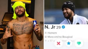 Neymar Responds To Verified Tinder Account That's Going Viral And He's Taken It Well