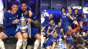 Ross Barkley Did A John Terry During Chelsea's FA Cup Final Celebrations