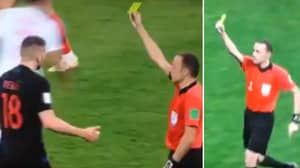 Some England Fans Think Ante Rebic Was Shown Two Yellow Cards